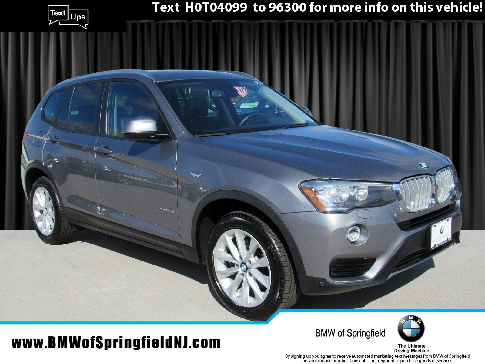 2017 BMW X3 xDRIVE28i -- CERTIFIED PRE-OWNED