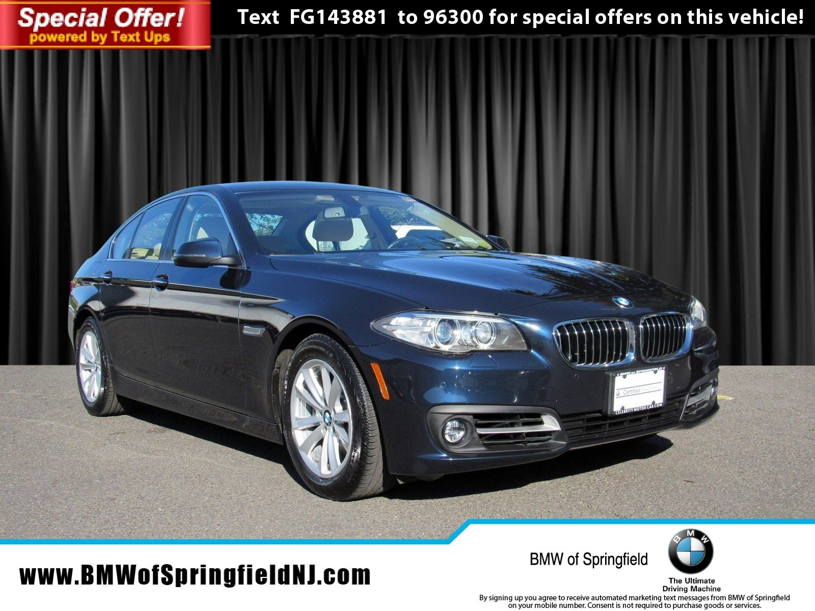 Certified Pre Owned 2015 BMW 5 Series 528i xDrive 4dr Car in