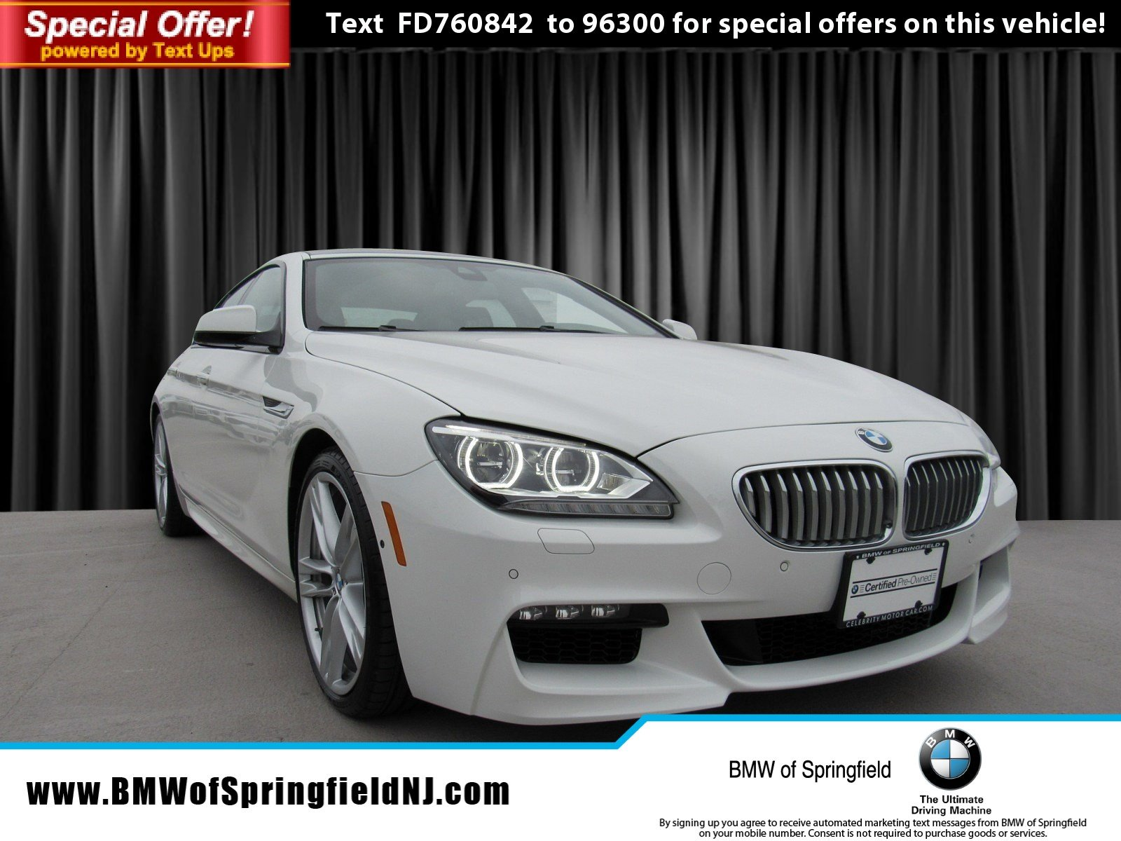 Certified Pre Owned 2015 BMW 6 Series 650i xDrive 4dr Car in