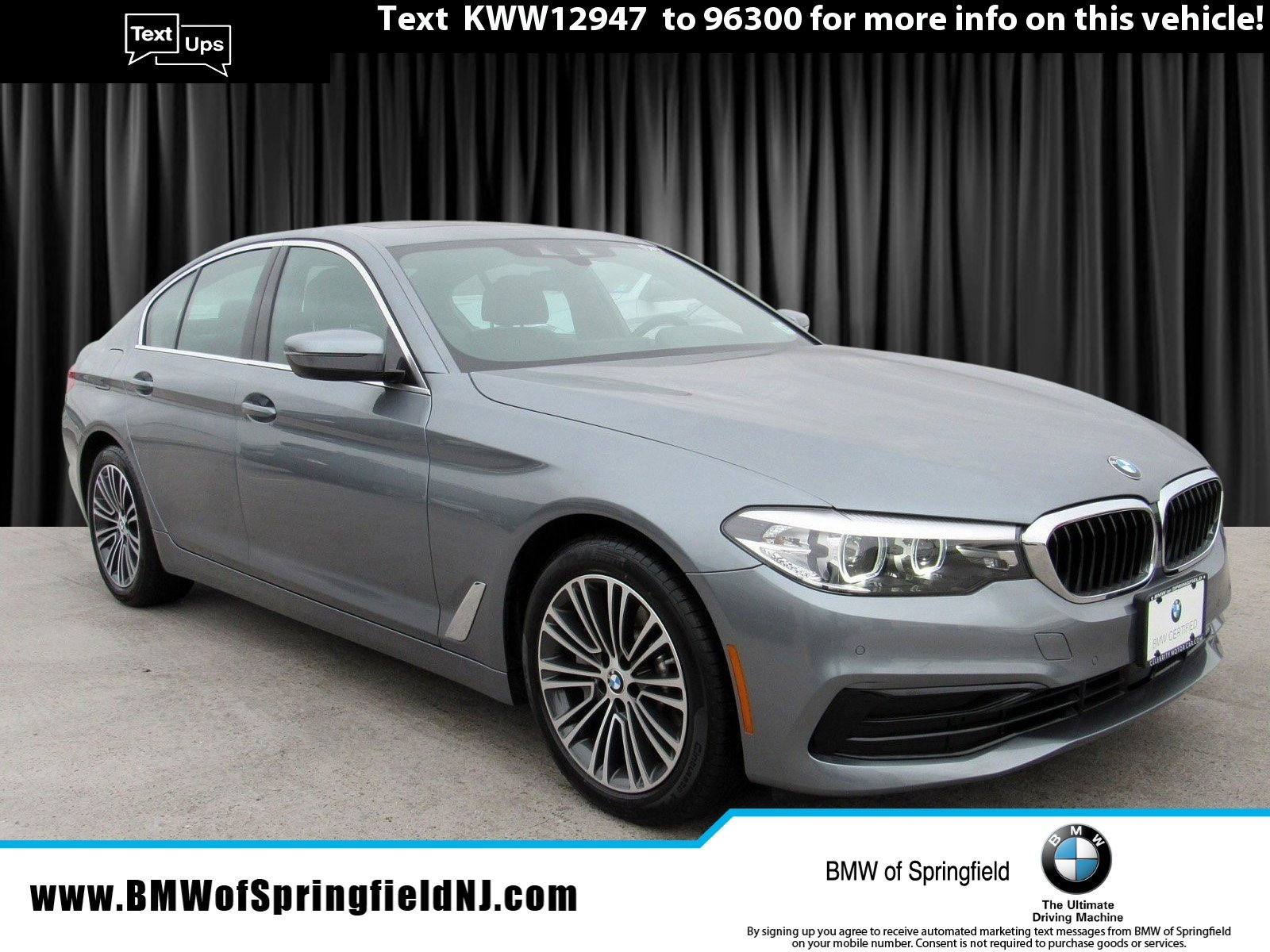2019 BMW 530i xDRIVE -- CERTIFIED PRE-OWNED